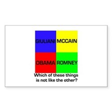Republican Which of these thi Sticker (Rectangular