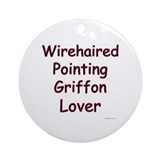 Wirehaired Lover Ornament (Round)