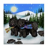 PULI DOGS WINTER MOUNTAIN tile coaster