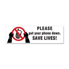 Put Your Phone down! Car Magnet 10 x 3