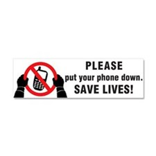 Put The Phone Down Car Magnet 10 X 3