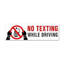 No Texting Car Magnet 10 X 3