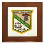 Riverside County Sheriff Framed Tile