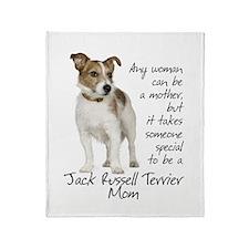Jack Russell Mom Throw Blanket