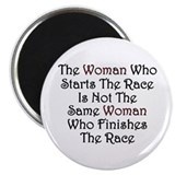 "Woman - Race 2.25"" Magnet (100 pack)"