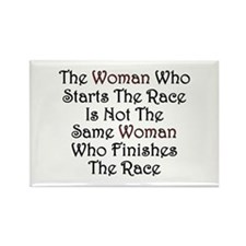 Woman - Race Rectangle Magnet
