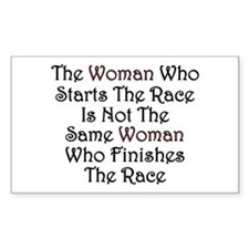 Woman - Race Rectangle Decal