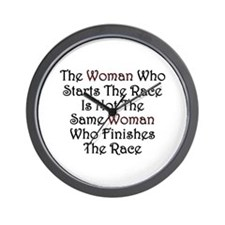 Woman - Race Wall Clock