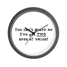 Can't Scare Two Sets Wall Clock