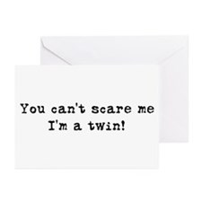 Can't Scare, I'm a twin Greeting Cards (Package of