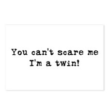 Can't Scare, I'm a twin Postcards (Package of 8)
