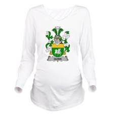 Quinn Family Crest Long Sleeve Maternity T-Shirt