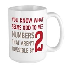 Odd Even Numbers Ceramic Mugs