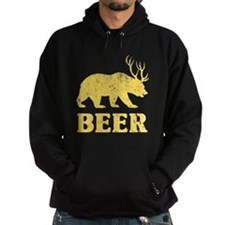 Vintage Yellow Bear+Deer=Beer Hoodie