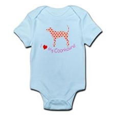 i heart my coonhound Infant Bodysuit