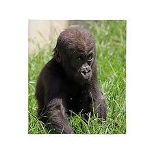 Gorilla-Baby002 Throw Blanket