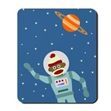 Sock Monkey Spacesuit Astronaut Mousepad