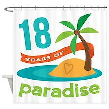 18th Anniversary Paradise Shower Curtain