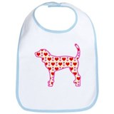 coonhound hearts Bib