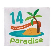 14th Anniversary Paradise Throw Blanket