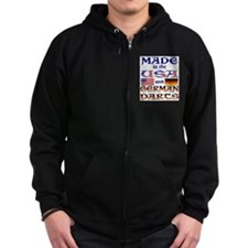 Made USA With German Parts Zip Hoodie