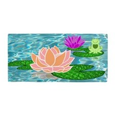 Water-Lily Beach Towel