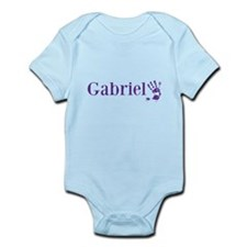 Purple Gabriel Name Body Suit