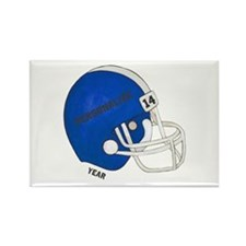 Football Helmet Rectangle Magnet