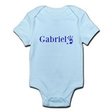 Blue Gabriel Name Body Suit