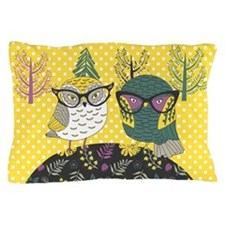 Trendy Owls Pillow Case