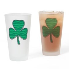 Irish Shamrock Drinking Glass