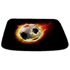 Soccer Fire Ball Bathmat