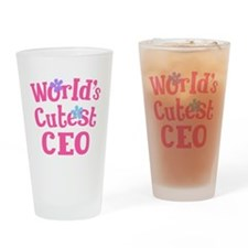 Worlds Cutest CEO Drinking Glass