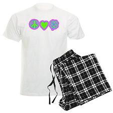 Irish Peace Love Lucky Shamrock pajamas