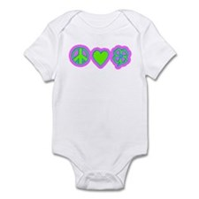 Irish Peace Love Lucky Shamrock Infant Bodysuit