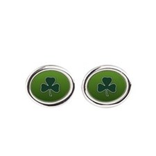 Irish Lucky Shamrock Cufflinks