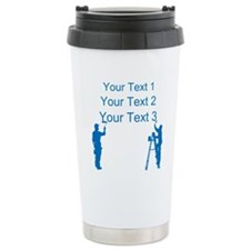 Painters and Blue Text Travel Mug