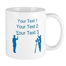 Painters and Blue Text Mugs