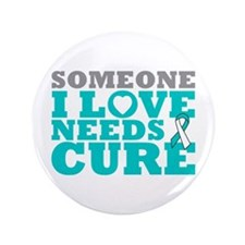 "Cervical Cancer Needs A Cure 3.5"" Button (100 pack"