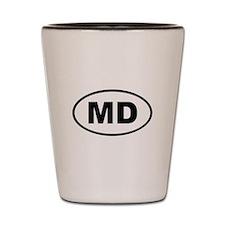 Moldova MD Shot Glass