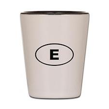 Spain E Espana Shot Glass
