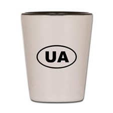 Ukraine UA Shot Glass