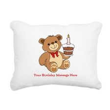 My 1st Birthday Rectangular Canvas Pillow