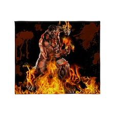 The Burning Desire !! Throw Blanket