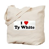 I Love Ty White Tote Bag