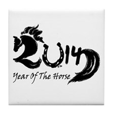 2014 Year Lucky Horse Shoe Tile Coaster
