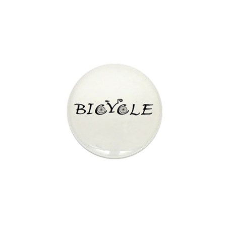 BICYCLE WORD - FINE HAND Mini Button (10 pack)