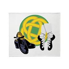 Celtic Knot Irish Shoes Throw Blanket