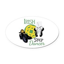 IRISH STEP Dancer Oval Car Magnet