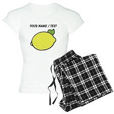 Custom Lemon Drawing pajamas